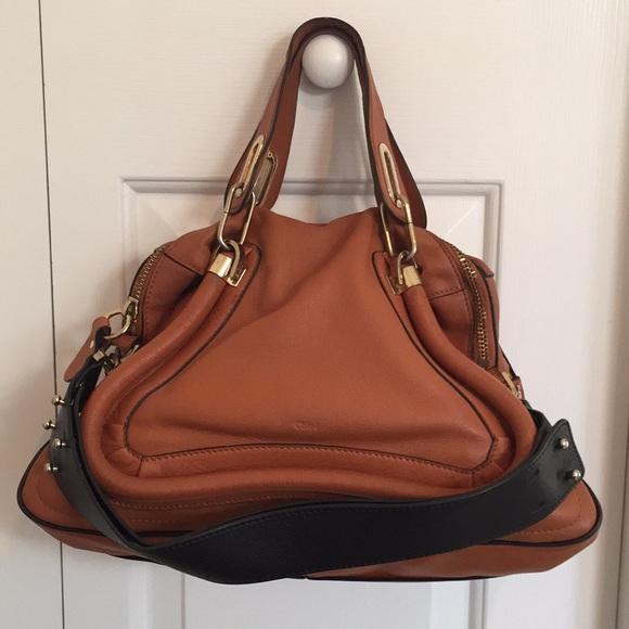 8b244d1989ba Chloe Handbags - Chloé Military Medium Paraty Armagnac Leather Bag